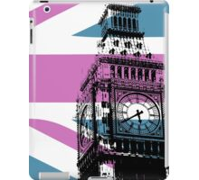 Union Jack and Big Ben, London, UK, Pink and Purple iPad Case/Skin
