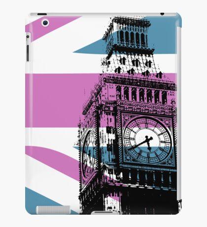 Union Jack and Big Ben, London, UK, Pink and Purple iPad Case/Skin