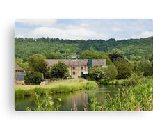 Cauldwell's Mill at Rowsley in the Derbyshire Peak Distric Canvas Print
