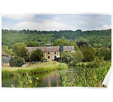 Cauldwell's Mill at Rowsley in the Derbyshire Peak Distric Poster