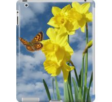 Copper Butterfly with Daffodils  iPad Case/Skin