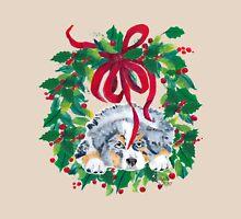 Christmas Puppy ~ T-shirt & Sticker ~ Blue Merle Aussie T-Shirt