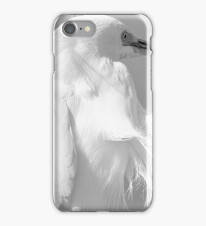 Snowy Egret with Wind iPhone Case/Skin