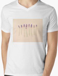 Lavender on pink Mens V-Neck T-Shirt