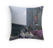 White & Purple Throw Pillow