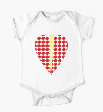 Rose Heart with Lightning One Piece - Short Sleeve