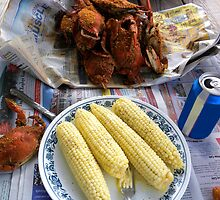 My Favorite Meal - Steamed Crabs and Corn  by Paulette1021