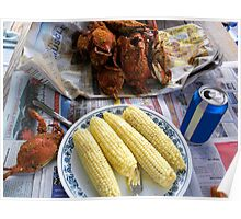 My Favorite Meal - Steamed Crabs and Corn  Poster