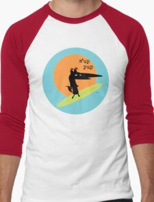Surfs Up Pup Men's Baseball ¾ T-Shirt