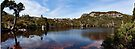 Wombat Pool Pano_Cradle Mountain by Sharon Kavanagh