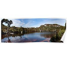 Wombat Pool Pano_Cradle Mountain Poster