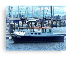 Red Roof - Cabin Cruiser moored at Williamstown, Vic. Canvas Print