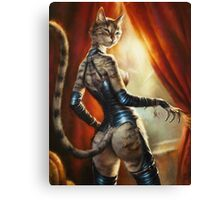 The Hermitage cats' Mistress Canvas Print