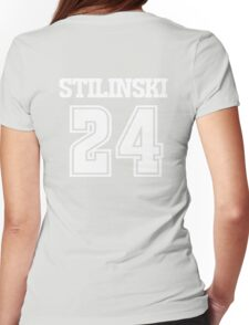 Stiles Stilinski Lacrosse Jersey - Back Womens Fitted T-Shirt