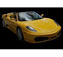 Yellow Ferrari Sports Car Photographic Print