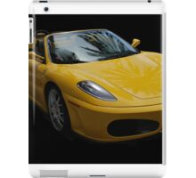 Yellow Ferrari Sports Car iPad Case/Skin
