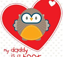 OWL SERIES :: heart - daddy is a hoot 1 by Kat Massard