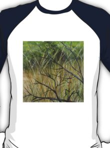 Old Ruined Cottage in Coleraine - Grass Section  T-Shirt