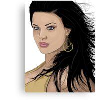 Vector Girl Canvas Print