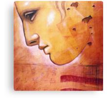 Face of Greek Statue - Artist Chris Bradley Canvas Print