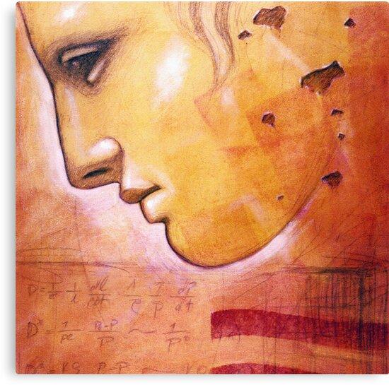 Face of Greek Statue - Artist Chris Bradley by chrisbradley