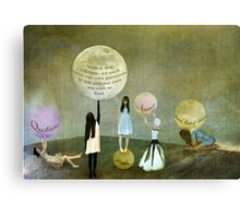 Questions and Answers Canvas Print