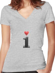 i love Women's Fitted V-Neck T-Shirt