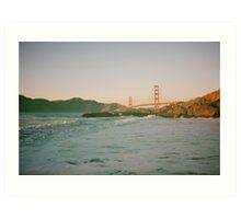 San Francisco waves Art Print
