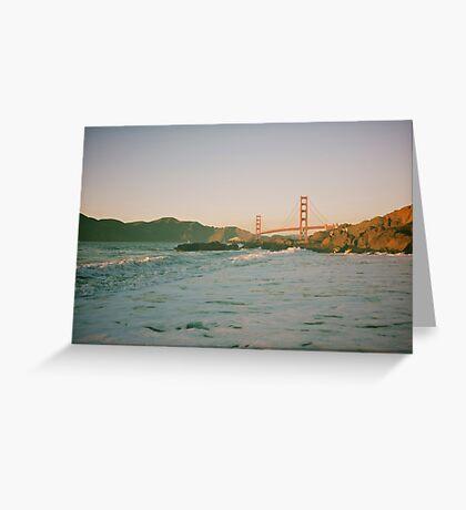 San Francisco waves Greeting Card