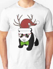 Hipster Christmas Panda T-Shirt