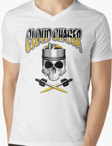 Cloud Chaser Skull Mens V-Neck T-Shirt