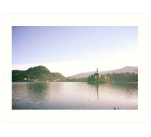 Bled lake Art Print