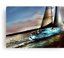 Boat Water Sky Canvas Print