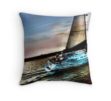 Boat Water Sky Throw Pillow