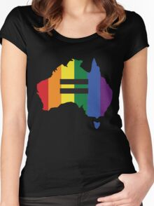 LGBT equality Australia Women's Fitted Scoop T-Shirt