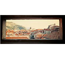 Dubrovnik window Photographic Print
