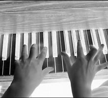 Piano Player Inverted by Debbie Robbins