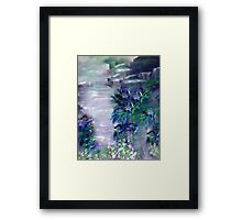 the tropical storm Framed Print