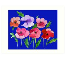 Poppies Amapolas Hand-painted Art Print