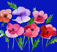 Poppies Amapolas Hand-painted by JoAnnFineArt