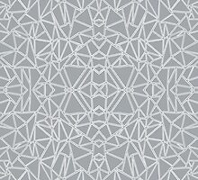 Abstract Blocks Grey #2 by ProjectM