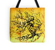 Old and Ancient Tree - Yellow  Tote Bag