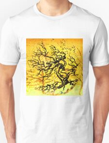 Old and Ancient Tree - Yellow  Unisex T-Shirt