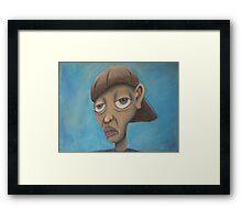 cratoonish portrait  Framed Print