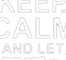 """""""Keep Calm and Let Bruce Handle It - T - Shirts & Hoodies  Sticker"""