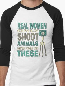 Real Women Only shoot with Cameras Men's Baseball ¾ T-Shirt