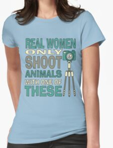 Real Women Only shoot with Cameras Womens Fitted T-Shirt