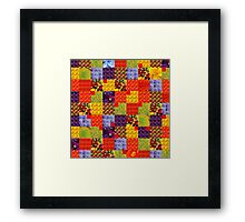 Squares & Colors of Flowers Framed Print
