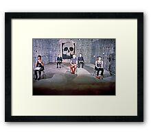AK 47 perform at Art Unit 1983 Framed Print