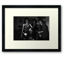 Christopher Barnett and crew upstairs at Art Unit Framed Print